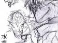 Зарисовка водяного дракона