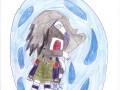 Рисунок Какаши и дракона