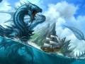Нападение водного дракона на корабль